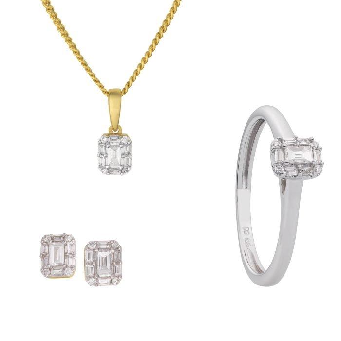 ID-102-set Gouden set met diamant