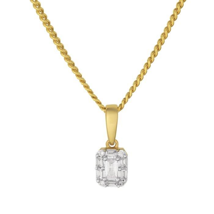 ID-102H-10 gouden hanger met diamant
