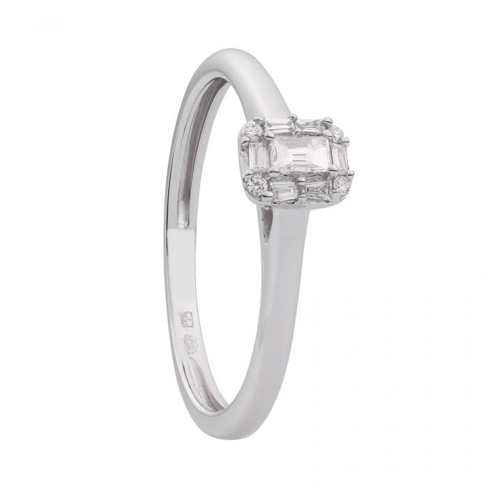 ID-102R-10 gouden ring met diamant