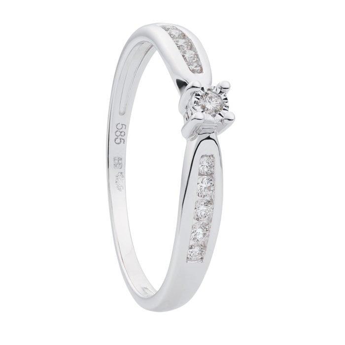 ID-105R-15 gouden ring met diamant