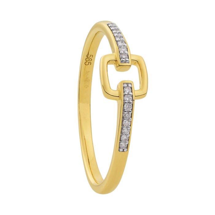 ID-107R-5 gouden ring met diamant