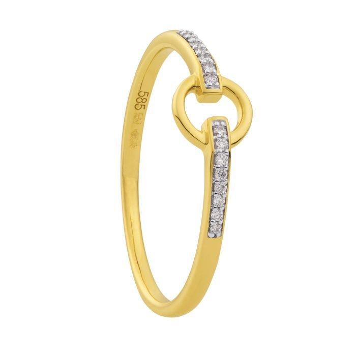 ID-108R-5 gouden ring met diamant