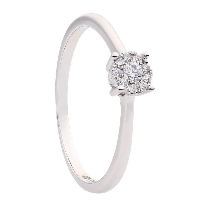 id-111R-12 gouden ring met diamant