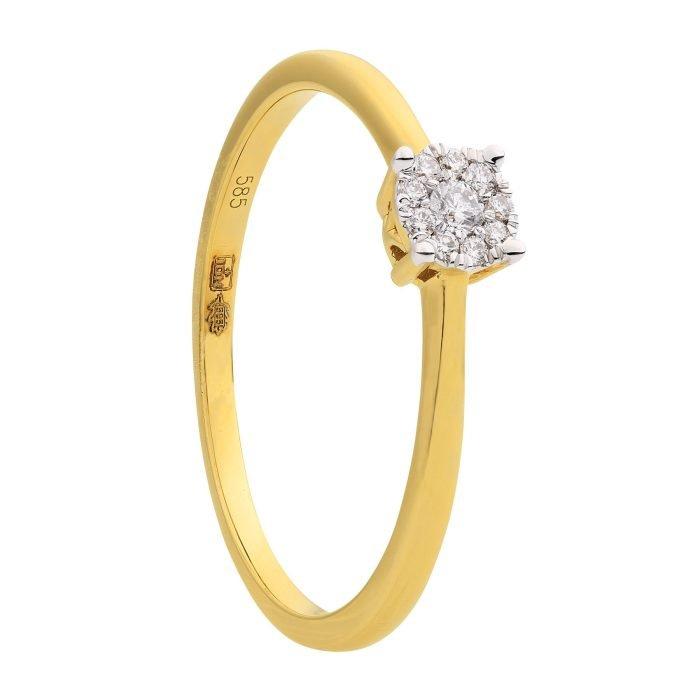 ID-111R-8 gouden ring met diamant