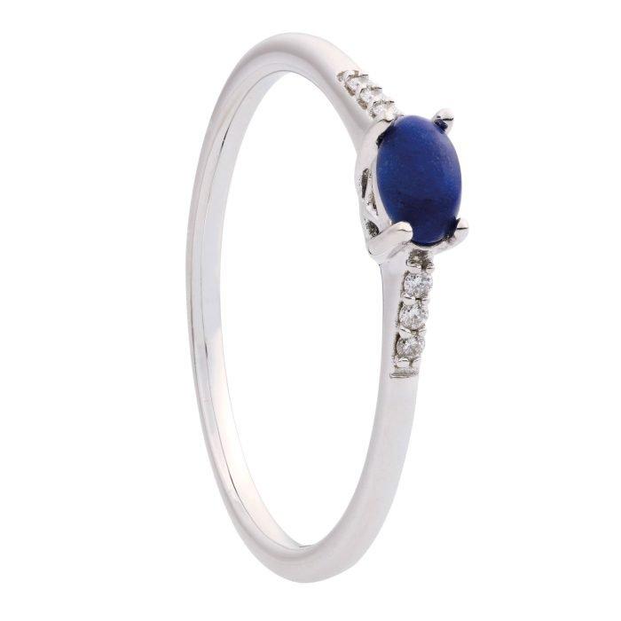 ID-112R-3 witgouden ring met lapis