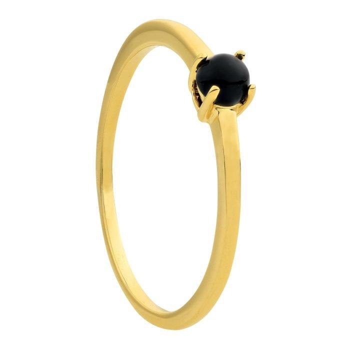 ID-113Rgeelgouden ring met Onyx