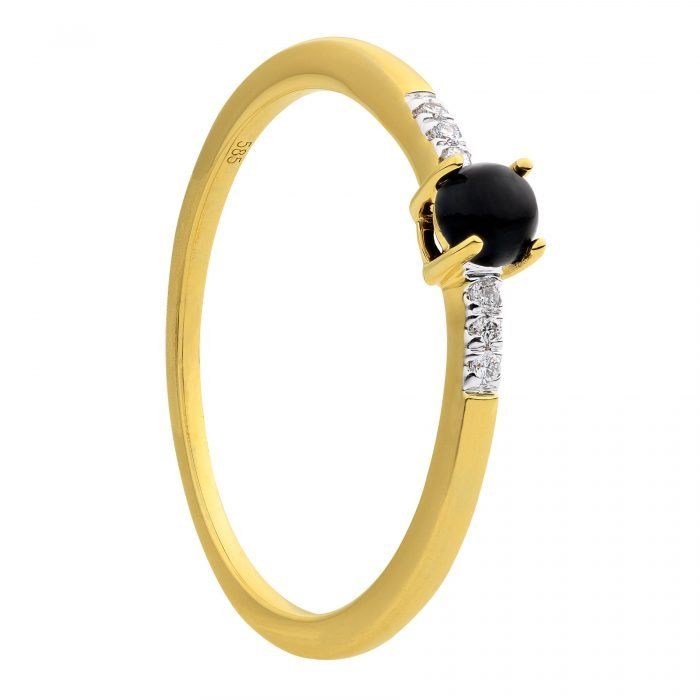 ID-114R geelgouden ring met Onyx