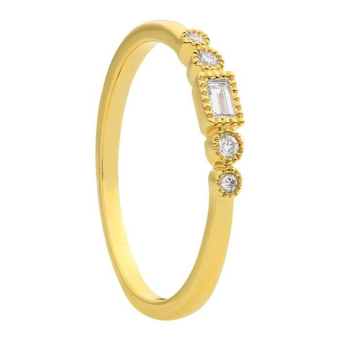 ID-116R-10 gouden ring met diamant