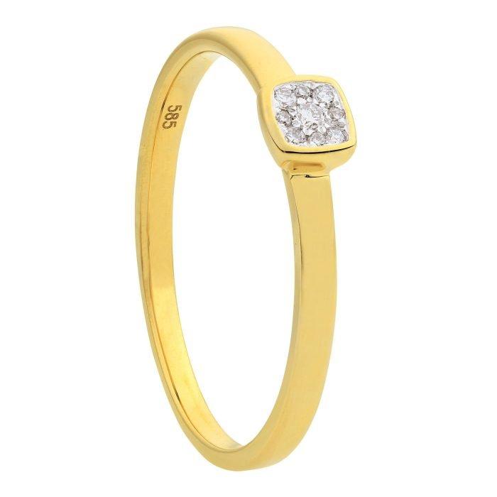 ID-119R-5 gouden ring met diamant
