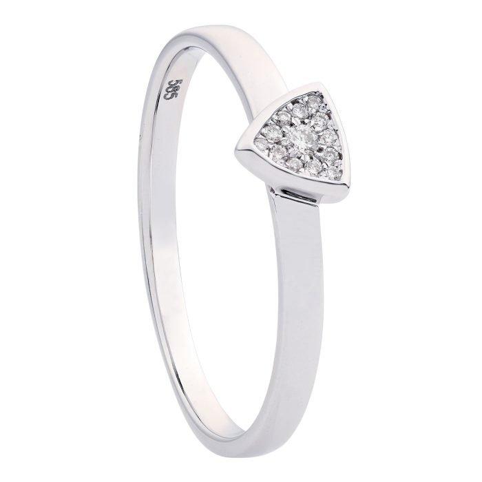 ID-120R-5 gouden ring met diamant