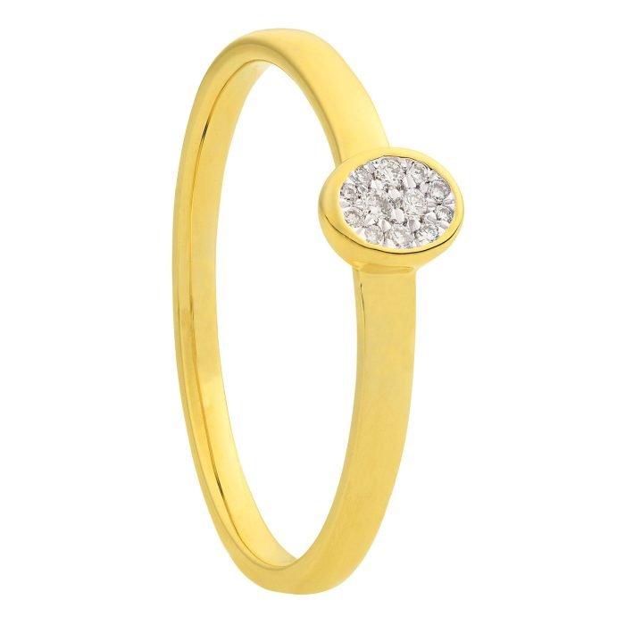 ID-121R-5 gouden ring met diamant