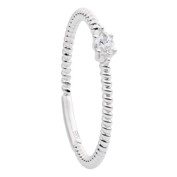 ID-R127-10 witgouden ring met diamant