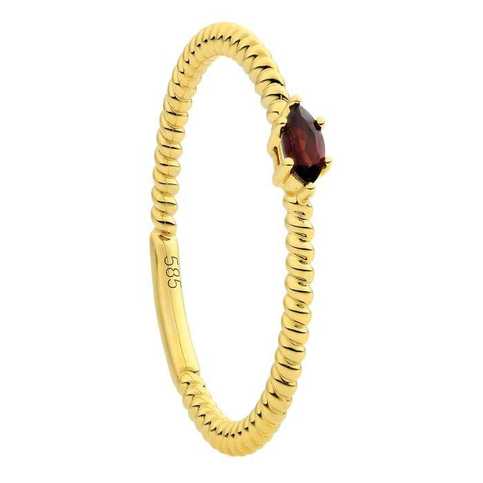 ID-128R-Granaat gouden ring