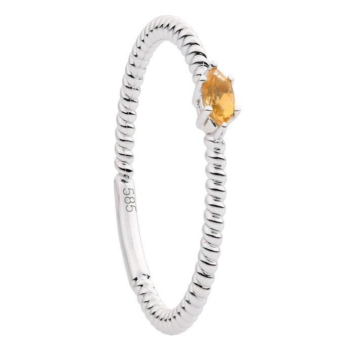 ID-128R Citrien Gouden ring