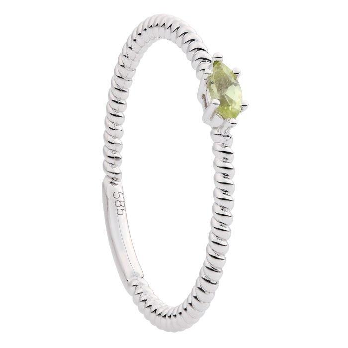 Wit gouden ring met Peridot