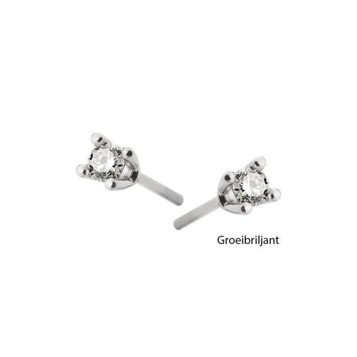 ID-33Ok gouden oorknoppen met diamant