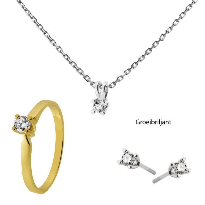 ID-33 Set gouden sieraden met diamant