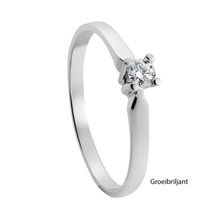 ID-33R-15 gouden ring met diamant