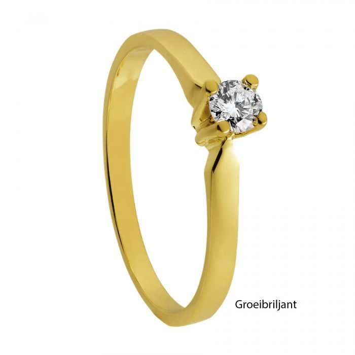 ID-33R-20 gouden ring met diamant