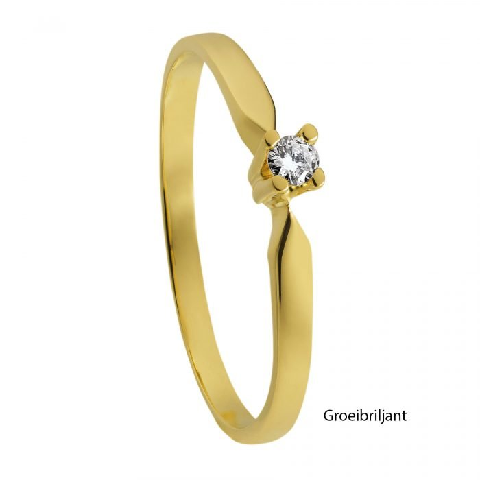 ID-33R-5 gouden ring met diamant