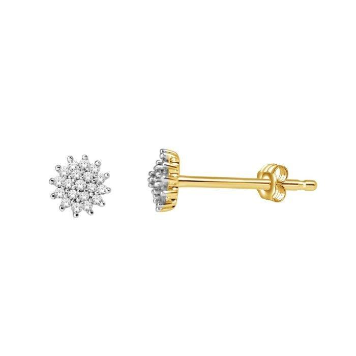ID-68OK-10 gouden oorknoppen met diamant