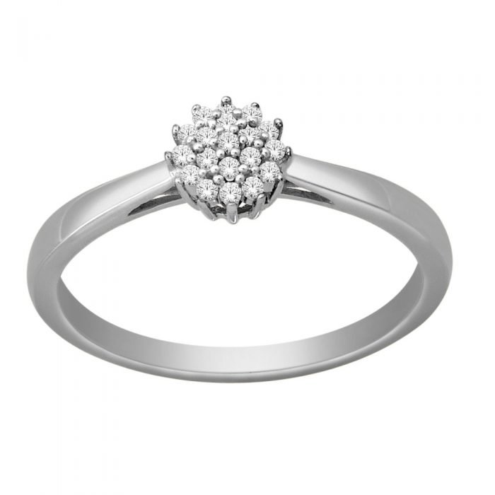 ID-68R-10 gouden ring met diamant