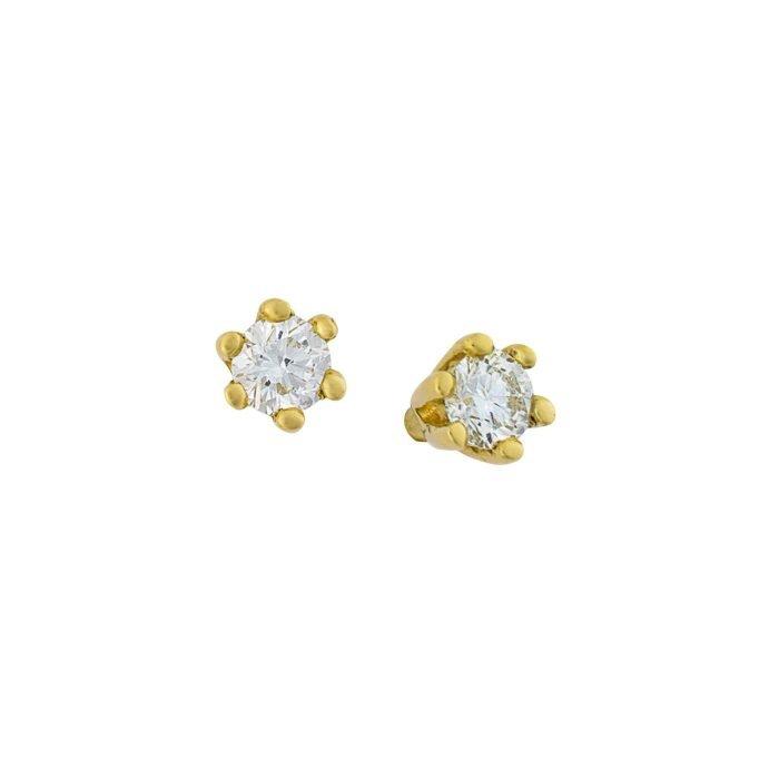 ID-76OK gouden oorknoppen met diamant