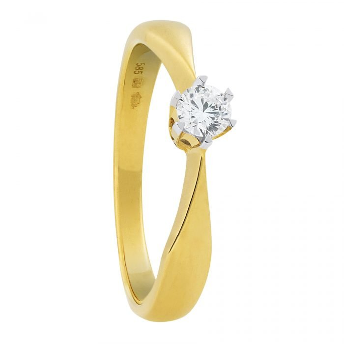 ID-76R-15 gouden ring met diamant