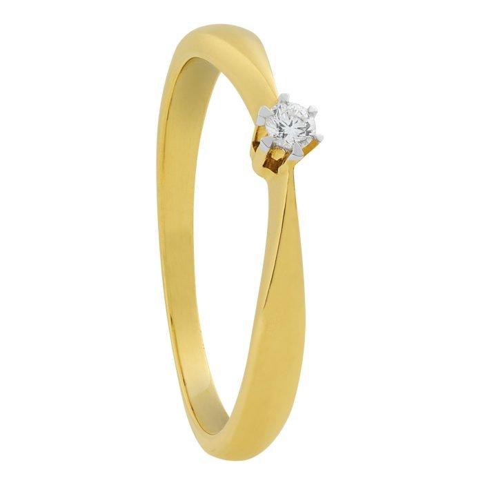 ID-76R-20 gouden ring met diamant