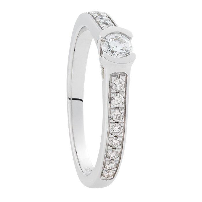 ID-80R-40 gouden ring met 0,40 crt. diamant