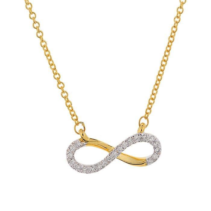 Gouden ketting met diamant