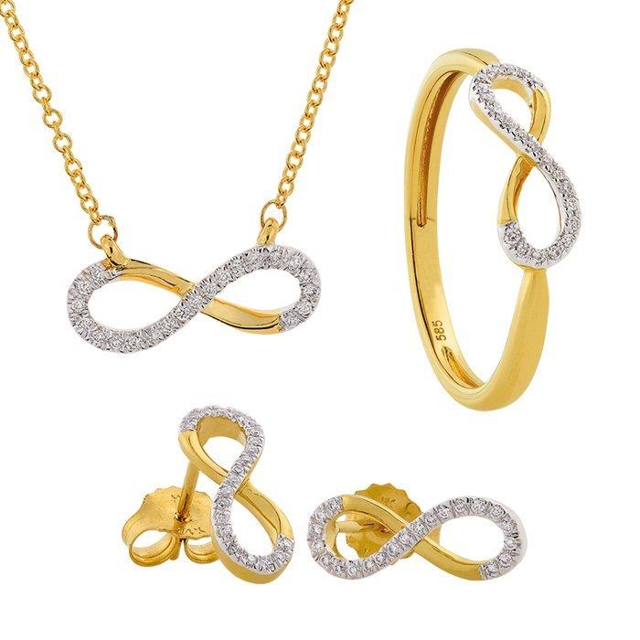 Set gouden sieraden